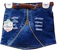 Юбка джинсовая для девочек 4-7 лет, Турция, оптом
