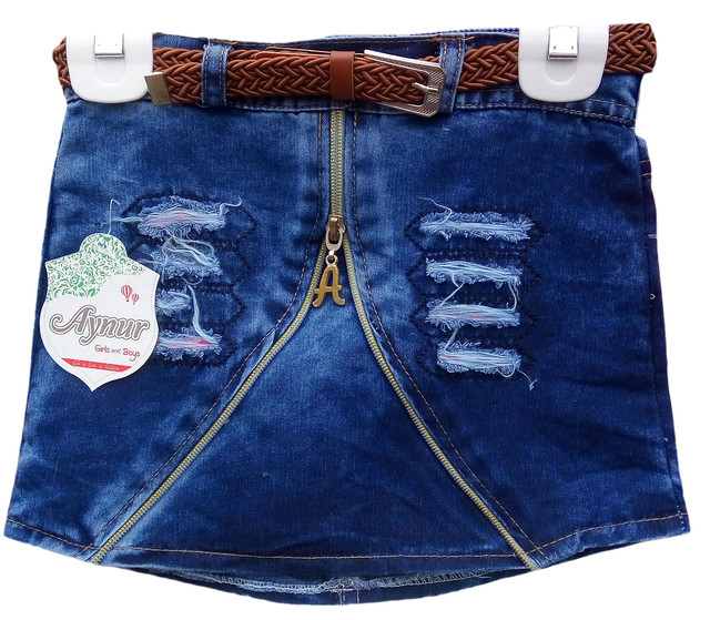 Юбка джинсовая для девочек 4-7 лет, Турция, оптом-1