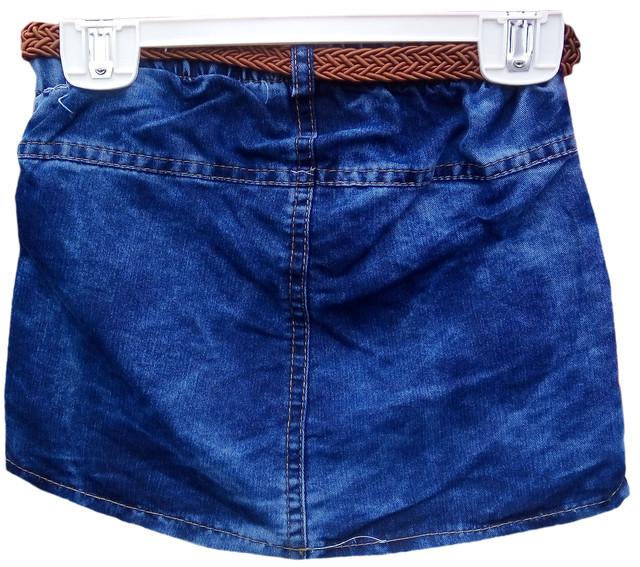 Юбка джинсовая для девочек 4-7 лет, Турция, оптом-2