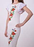 Белое платье вышиванка
