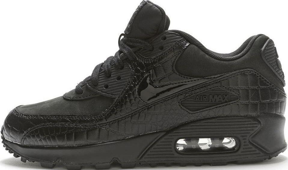 7ce0cd5a Кроссовки Nike Air Max 90 Premium Black Crocodile - 1430 - ТЕХНОЛЮКС в  Запорожье