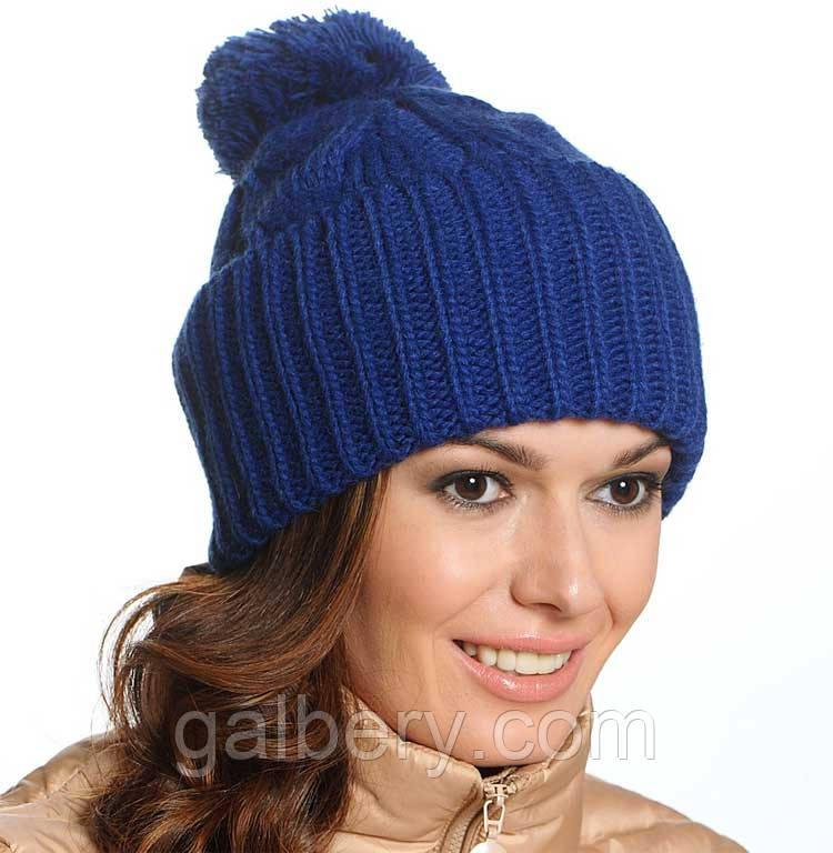 Женская вязаная шапка в стиле Лало, объемной крупной вязки ...