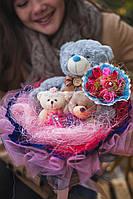 Превосходный букетик из мягких игрушек, Праздничный