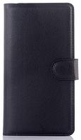 Кожаный чехол книжка для  Nokia Lumia 540 черный