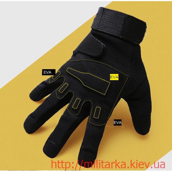 Тактические перчатки Blackhawk черные полнопалые