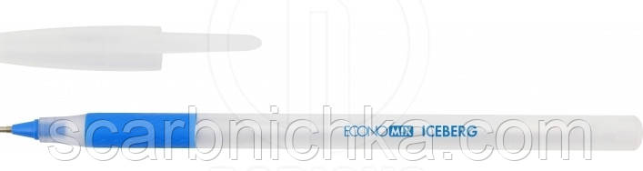"""Ручка шариковая """"Economix"""" масляная Iceberg 0,7мм синяя  Е10197"""