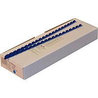 Пружины пластиковые 10 мм синие, 100 шт/уп., 60-75 листов.