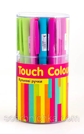 "Ручка шариковая ""1 Вересня"" масляная синяя 0,7мм ""Touch Colours"" 411666, фото 2"