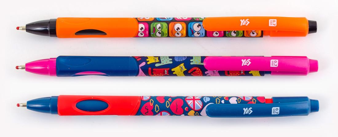 """Ручка шариковая """"1Версня"""" масляная синяя 0,7мм """"FUNNY"""" 411643"""