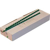 Пружины пластиковые 12 мм зелёные, 100 шт/уп., 75-90 листов.