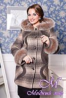 Женское короткое зимнее пальто больших размеров (р. 50-64) арт.717 Maila/116+Unito Тон 13