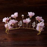 Диадема венок Лаура вiночок, украшение из цветов для волос аксессуары