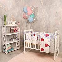 Набор в детскую кроватку Baby Design сердца (6 предметов), фото 1