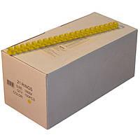 Пружины пластиковые 16 мм жёлтые, 100 шт/уп., 120-135 листов.