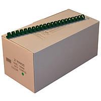 Пружины пластиковые 16 мм зелёные, 100 шт/уп., 120-135 листов.