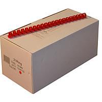 Пружины пластиковые 16 мм красные, 50 шт/уп., 120-135 листов.