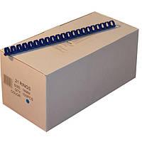 Пружины пластиковые 16 мм синие, 100 шт/уп., 120-135 листов.