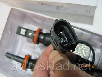 Лампы SUPER LED Н11 12-24V 6500/3200 lm с диодоми OSRAM