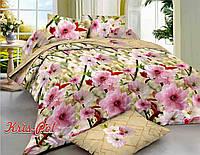 """Семейный комплект постельного белья """"Цветущий сад""""."""