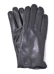 Подростковые кожаные перчатки на махровой подкладке