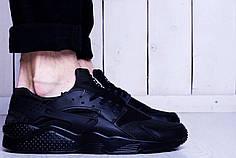 Кроссовки Nike Huarache Triple Black черные топ реплика