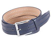 Ремень синего цвета под джинсы