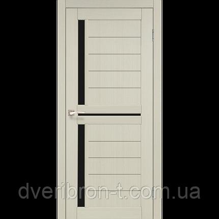 Двери Корфад Scalea SC-04 беленый дуб черное стекло, фото 2