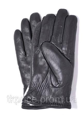 Подростковые кожаные перчатки на белом меху, фото 2