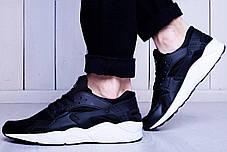 Мужские кроссовки Nike Huarache черно-белые топ реплика, фото 3