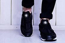 Мужские кроссовки Nike Huarache черно-белые топ реплика, фото 2