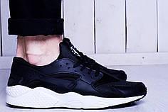 Мужские кроссовки Nike Huarache черно-белые топ реплика