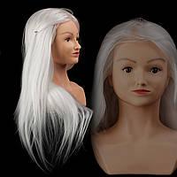 Учебный манекен Kathleen с плечами, 30% натуральных волос, white blonde