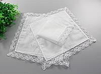 Свадебный платочек белый