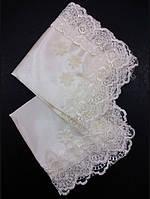 Свадебный платочек бежевый