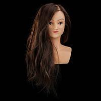 Учебный манекен Gloria с плечами, 30% натуральных волос, шатен