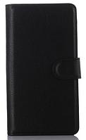 Кожаный чехол книжка для  Nokia Lumia 950 черный
