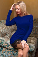 Платье трикотажное с кружевным купоном 6013 (ВИВ)