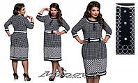 Элегантное  женское  платье  батал с 52 по 62 размер