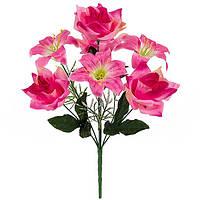 Букет искусственных цветов Лилия и роза  , 40 см