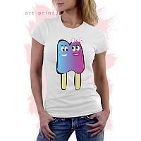 Женская футболка с принтом Мороженым, фото 1