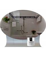 Овальное зеркало с гнутой полкой, размер 60х40 см