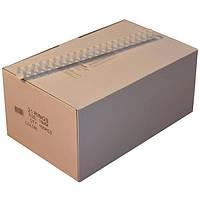 Пружины пластиковые 19 мм белые, 100 шт/уп., 135-160 листов.