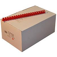 Пружины пластиковые 19 мм красные, 100 шт/уп., 135-160 листов.