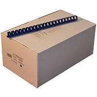 Пружины пластиковые 19 мм синие, 100 шт/уп., 135-160 листов.