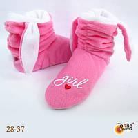 Тапочки домашние, розовый кролик