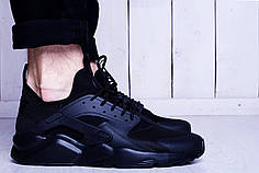Мужские кроссовки Nike Air Huarache Ultra Triple Black топ реплика