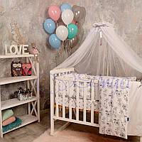 Набор в детскую кроватку Baby Design велосипеды (7 предметов)