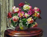 Картина для рисования по номерам Чайные розы