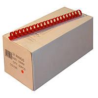 Пружины пластиковые 22 мм красные, 50 шт/уп., 160-190 листов.