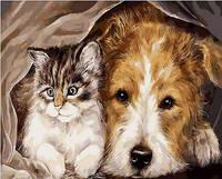 Картина для рисования по номерам Лучшие друзья